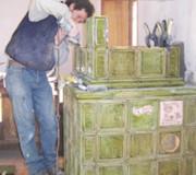 Montaggio della stufa in maiolica 5