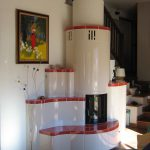 Briancon stufa in maiolica a parete 001