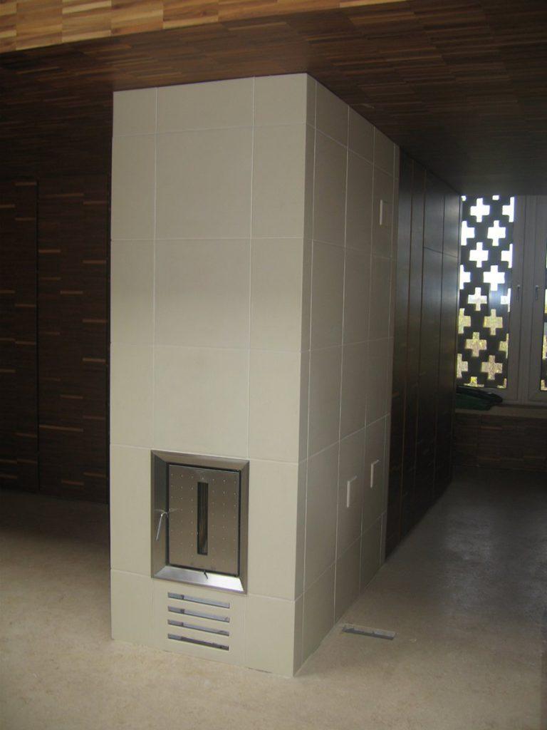 Cube stufa in maiolica moderna 002