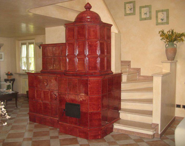 Getsemani stufa in maiolica vecchia maniera 001
