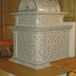 Muletto glatt stufa in maiolica vecchia maniera 001