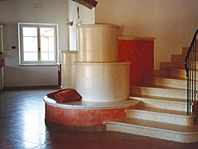 Soave stufa in maiolica moderna 001