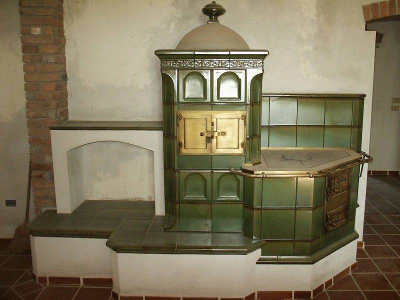 Stufa cucina verde