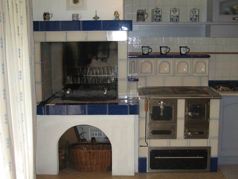 Stufa cucina blu