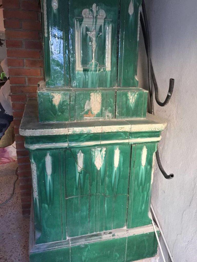Stufa in maiolica Sfruz 1850 in vendita