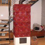 Torre stufa in maiolica particolare 001