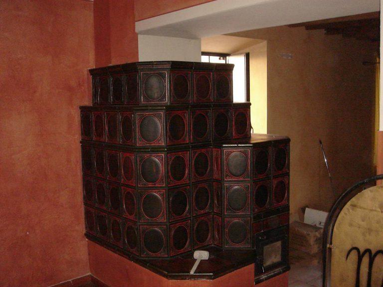 Zanoni stufa in maiolica a parete 002