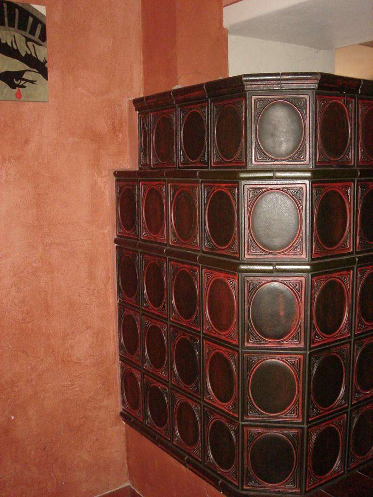 Zanoni stufa in maiolica a parete 003