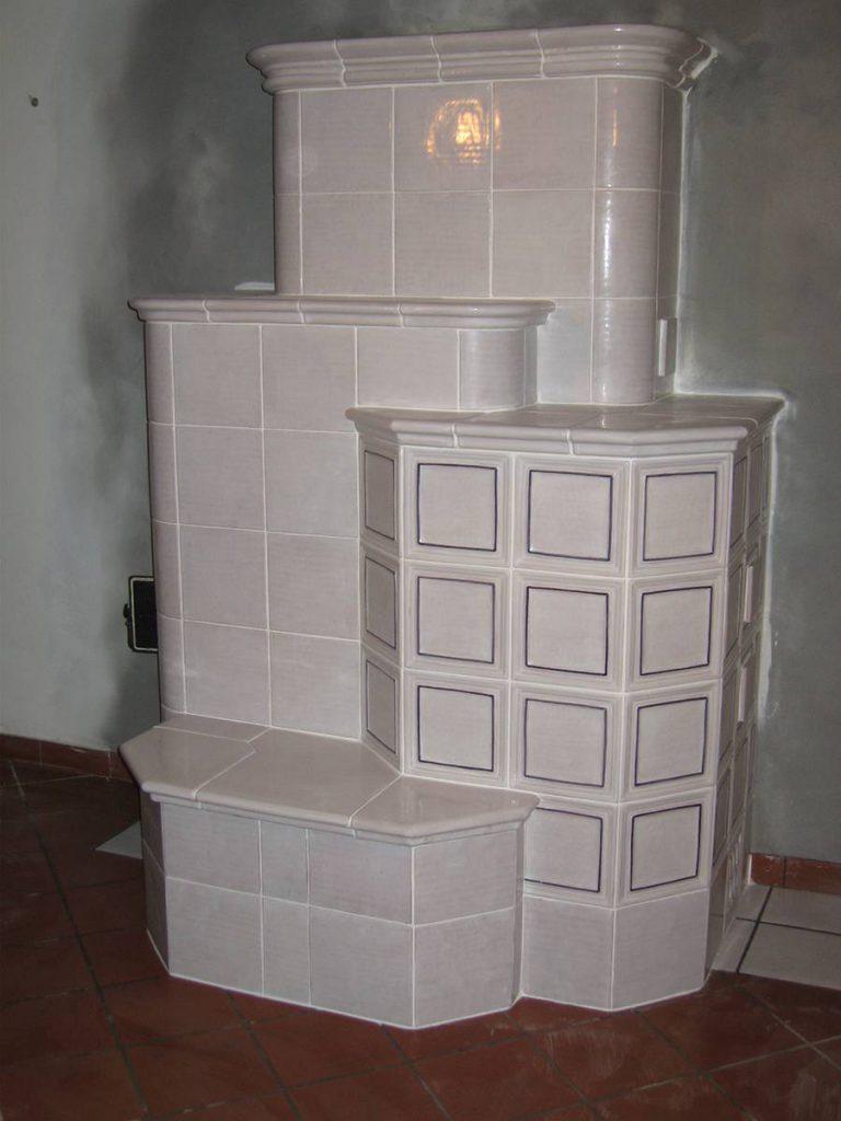 Zanoni stufa in maiolica a parete 007